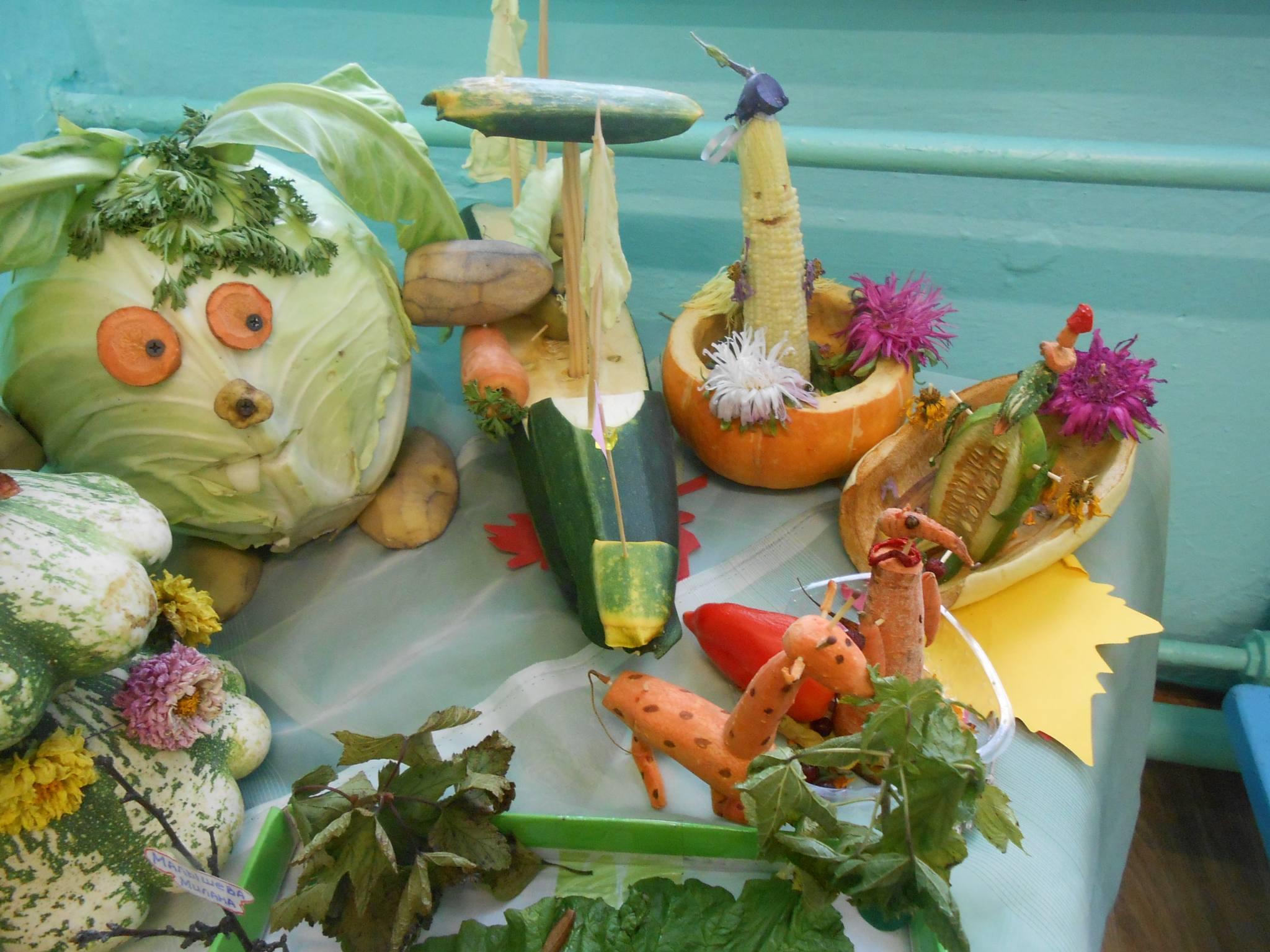 Поделка из овощей на ярмарку 51